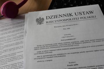 Wydruk ustawy Prawo przedsiębiorców